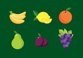 Früchte flachen freien Vektor