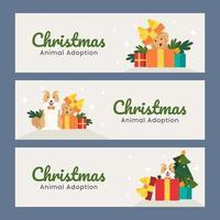 Adoption von Tieren am Weihnachtstag vektor