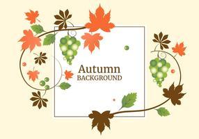 Free Flat Design Vektor Herbst Hintergrund