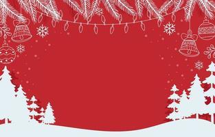 roter Weihnachtshintergrund vektor