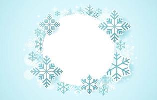 Schneeflocken Winterkonzept vektor