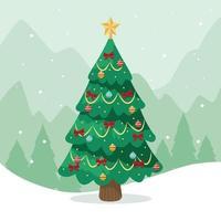 Weihnachtsbaumkonzept vektor