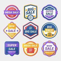modern försäljning etikett samling vektor