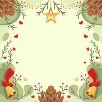 Weihnachtshintergrund mit grüner und roter Farbe vektor
