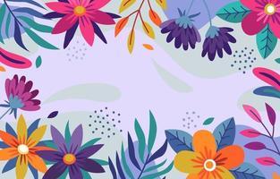 abstrakter Blumenhintergrund vektor