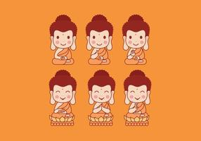 Buddah Cartoon Vektor