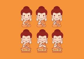 Buddah tecknad vektor