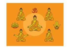 Freie Buddha Vektor-Illustration vektor