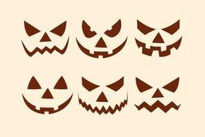 Halloween Kürbis Gesichter Sammlung vektor