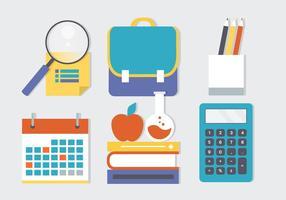 Free Flat Education Vektor-Elemente vektor
