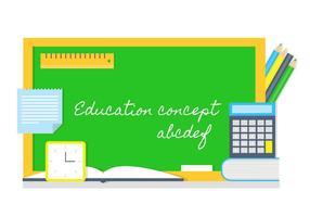 Free Back To School Vektor Hintergrund