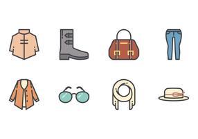 Frauen Fashion Line Icons vektor