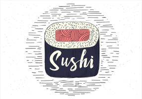 fri handritad vektor sushi illustration