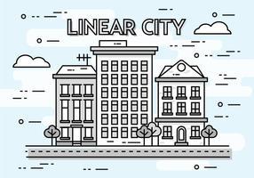 Gratis linjär stadsbild vektor bakgrund