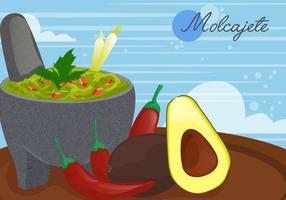 Molcajete för mexikansk mat vektor