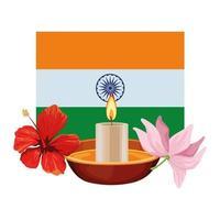 Flagge der indischen Karikaturzusammensetzung