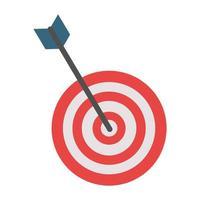 Dartscheibe Zielspiel isoliert vektor