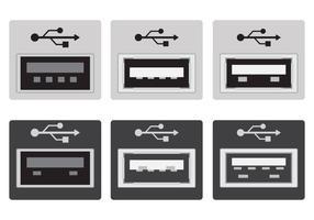 Port USB Vektoren