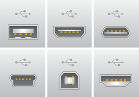 Realistischer USB-Port-Anschluss-Vektor