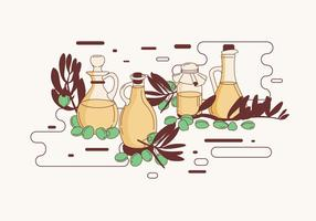 Jojoba-Flaschen-Vektor