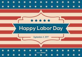 Retro Glad Labor Day Bakgrund