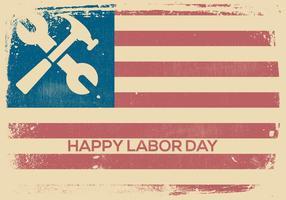 Vintage Labor Day Hintergrund vektor