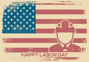 Labor Day Retro Style Hintergrund vektor