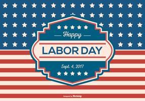 Retro Labor Day Bakgrund Vector