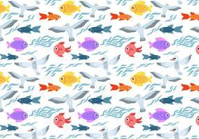 Gratis Sea Life Pattern Vector