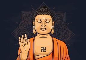 Illustration av Lord Buddha vektor