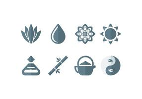Meditation, Yoga, Zen, Buddha Set Icons