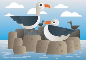 Albatros Vektor-Illustration