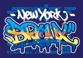 bronx graffiti text vektor