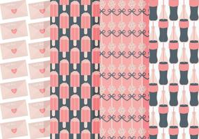 Vektor söta mönster uppsättning