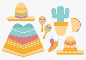 Vektor mexikanische Einzelteile