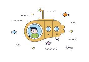 Gratis ubåtvektor