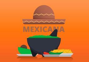 Molcajete mexikansk traditionell mat vektor