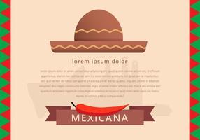 Mexikanische traditionelle Lebensmittel-Menü Vorlage Vektor
