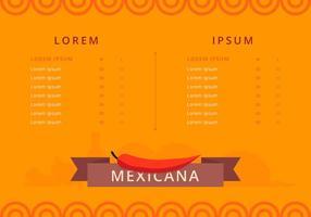 Mexikansk mat och meny mall vektor
