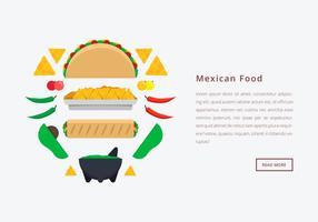 Molcajete Mexikanische traditionelle Lebensmittel-und Schleifwerkzeuge. Webvorlage. vektor