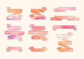 Vektor Aquarell Bänder Set