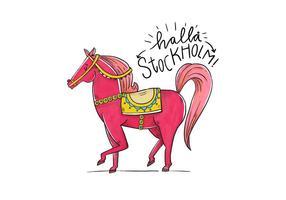 Nettes Stockholm Folklore Charakter Pferd
