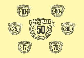 Årsdagskort Vector Pack