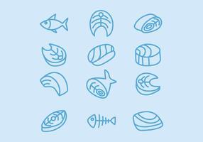 Lachs-Filet-Vektoren