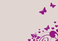 Herz mit Blumen und Schmetterlingen vektor