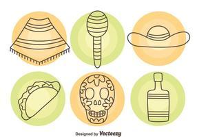 Mexikanische Element Icons Vektor