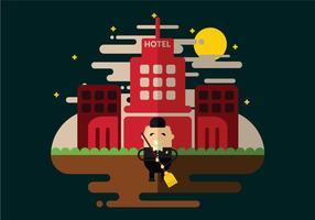 Hotel Janitor Rengöringsvektor vektor