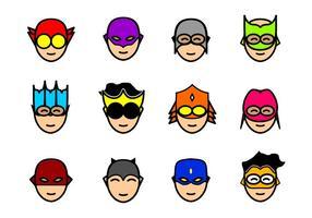 superhjältar mask vektor