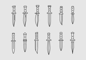 Bayonets och taktiska knivar vektor