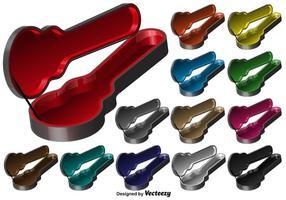 Vector 3D Gitarren Fall Icon Set